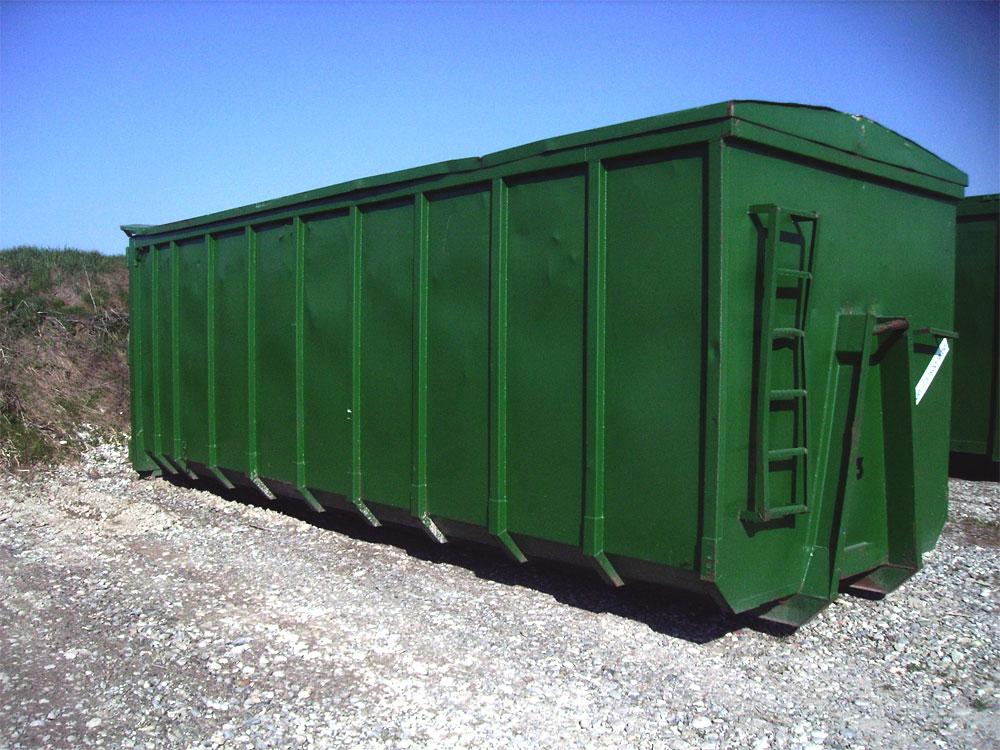 Abrollcontainer mit Deckel, 25 m³ bis 45 m³