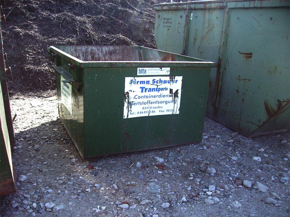 Absetzcontainer für Kleinmengen (3 m³)