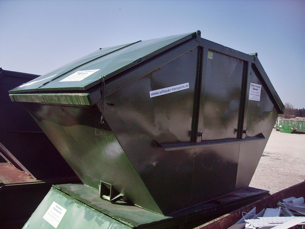 Absetzcontainer mit Deckel, verschließbar (10 m³)