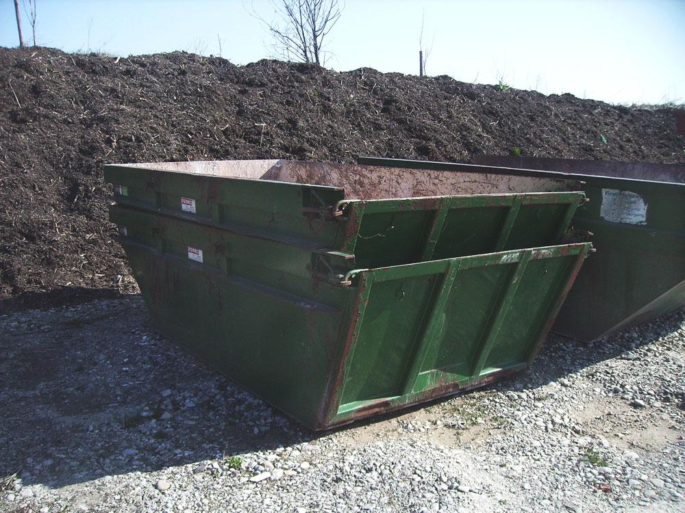 Bauschuttcontainer mit Klappe (5 m³)